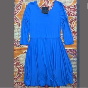 Cynthia Rowley Blue Casual Dress Fit Flare Large